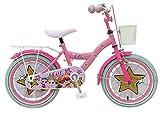LOL Surprise Bici Bicicletta Bambina 18 Pollici Freno Anteriore al Manubrio e Posteriore Contropedale Cestino Rosa 95% Assemblata