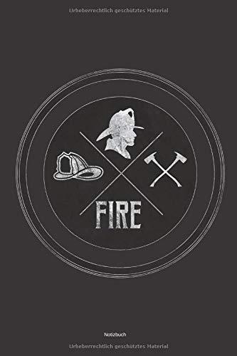mann Geschenk Buch Feuerwehrfrau Einsatztagebuch Feuerwehr  Liniertes Notizbuch ca A5 für Notizen, Skizzen, Zeichnungen, Formeln, als Kalender oder zum Lernen ()