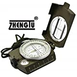 ZHENGTU Professional Multifunction Military Army Metal Sighting High Accuracy Waterproof Compass (Green)