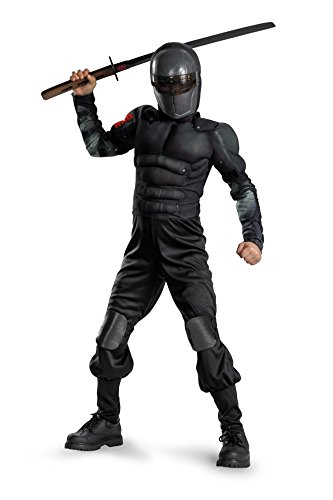 Disguise G.I. Joe Retaliation Snake Eyes Klassische Muscle Chest Kost-m Kind 10-12