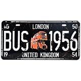 Cartel de chapa Placa metal tin sign retro nostálgico metalicas United Kingdom matrícula del coche Doble Decker Bus