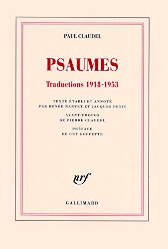 Psaumes: Traductions 1918-1953
