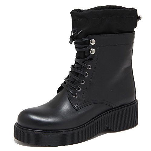 6633N stivale donna PRADA SPORT pelle nero shoes woman boots [38.5]