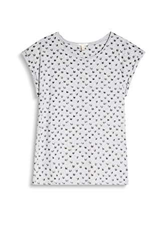 ESPRIT 047ee1k038, T-Shirt Donna, (Light Grey 5), 38 (Taglia Produttore: Medium)