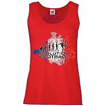 lepni.me Camisetas sin Mangas para Mujer Fútbol de Evolución - Francia, Campeonato de