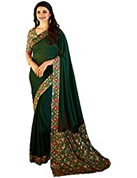 Sarees(Radhika Saree New Collection 2018 Green Color Georgette Printed Sarees For Women Party Wear Offer Designer...