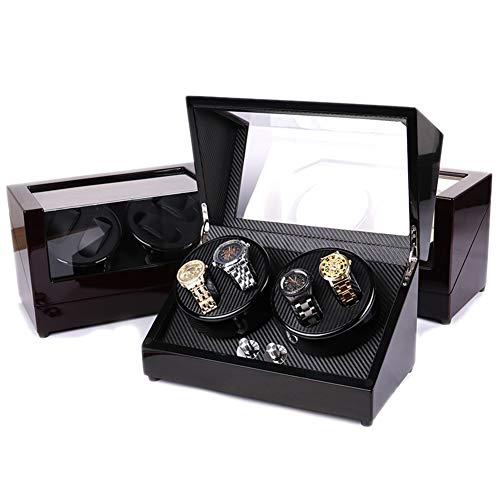 Goolife Automatische Uhrenwinder 4 + 0 Klavierfarben  Luxus-Uhrendarsteller-Box Mit 5 Moden,1,Euplug