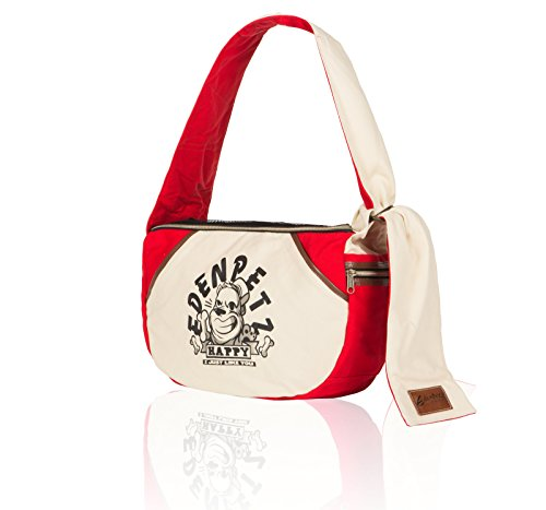 EdenPetz Pet Wide Strap Sling Bag Outdoor Small Animals Travel Carrier Bag for Dogs/Cats/Rabbits Red 3
