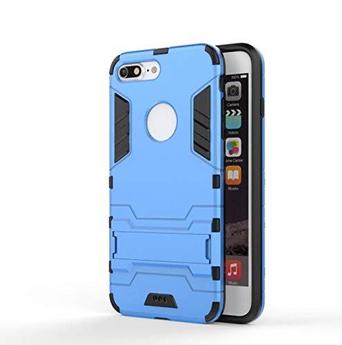 WLWLEO Für iPhone7Plus / 6Plus Hülle, 2 in 1 weichem Silikon All Inclusive Stoßfestes Anti-Fall-Schutzhülle, für iPhone6   / 7,Blue,6Plus (Plus-harter Fall Iphone6)