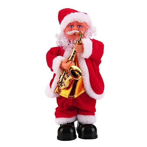 Togelei Santa Claus Baby Weiches Plüschtier Singen gefüllt Animierte Puppe Weihnachten bläst Saxophon elektrischen Alten Mann pädagogisches Spielzeug