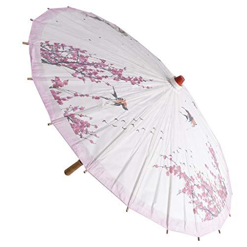 LOVIVER Weinlese Pfirsich Blumen Kunst Öl Papier Regenschirm Sonnenschirm Party Dekoration - Wildgans