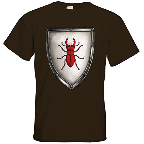getshirts - Das Schwarze Auge - T-Shirt - Die streitenden Königreiche - Wappen Joborn Chocolate