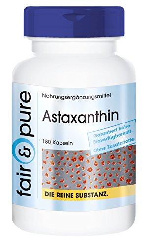 Astaxantina Natural - Perlas de AstaPure® - Alta pureza - 180 Cápsulas