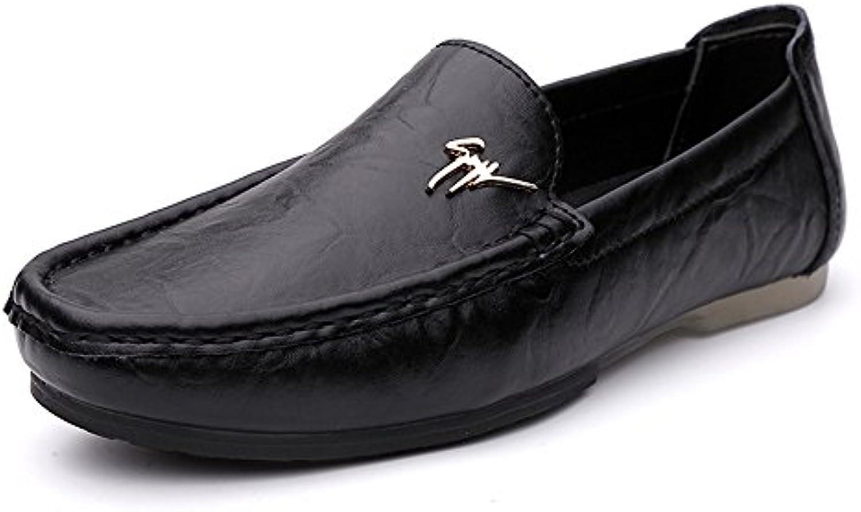 SHELAIDON loafers2038-DE000 - Tobillo bajo de Cuero Hombre, Color Negro, Talla 39 EU=24.5cm(Innenlänge)