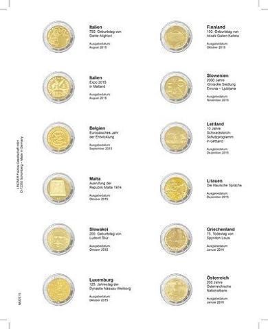 Feuille numismatique pré-imprimée 2-Euro: Italie 08/2015 - Autriche 01/2016 [Lindner