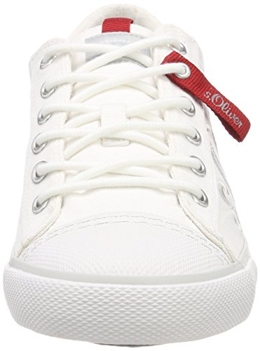 s.Oliver 13619, Sneakers Basses Homme Blanc (White)