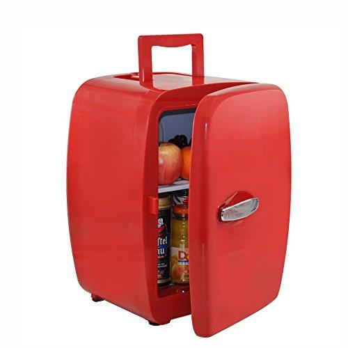 LT&NT Portable 14L Voiture Réfrigérateur Petit Ménage Froid et Chaud Boîte de Voyage d'automobile en Plein air frigo avec Poignée 12V/220V-240V, Rouge