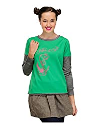 Yepme Womens Green Cotton Sweatshirt-YPMSWEAT5014_M