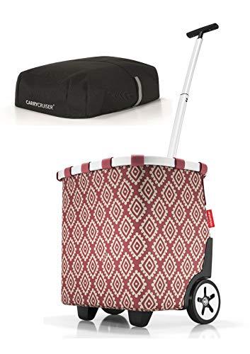 reisenthel Angebot Einkaufstrolley carrycruiser Plus gratis Cover Abdeckung und Sichtschutz! (Diamonds Rouge)