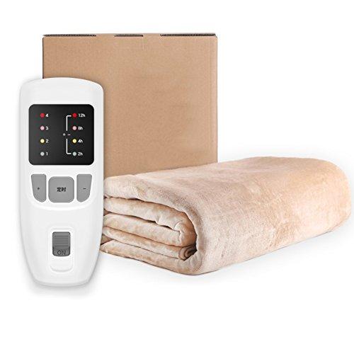 Heizdecke,Wärmeunterbett Doppelten kontrolle Thermostat Elektrische heizdecke Timing Sicherheit Hausgebrauch Strahlung Komfort wärme-unterbett-A 80x180cm(31x71inch)