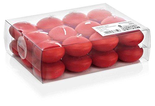 Wiedemann candele galleggianti, cera, rosso, 2.5 x 4 cm