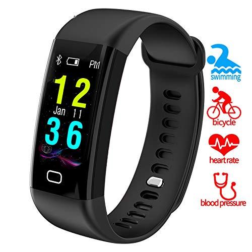 SJUTALR Sport Uhren Fitness Tracker Smartband Schwimmen IP68 Uhr Herzfrequenz Blutdruck Sauerstoff Monitor Smart Armband Band Armband, rot (Herzfrequenz-monitor-jugend)