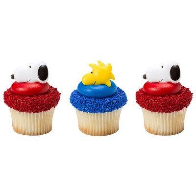 oodstock Cupcake Rings - 24 count (Snoopy Cupcake Ringe)