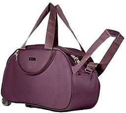alfisha Polyester Lightweight Waterproof Luggage Travel Duffel Bag with Roller wheels for Unisex 30ml Capacity (AFB-DUF-011, Purple)