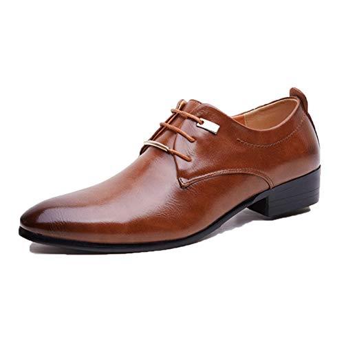 Geschäfts Schuhe der Männer Arbeiten Spitze Vintage Leder schnür Schuhe der formellen Kleidung der Stadt städtische Arbeitsschuhe vor (Für Leder Schuhe Arbeit Männer)