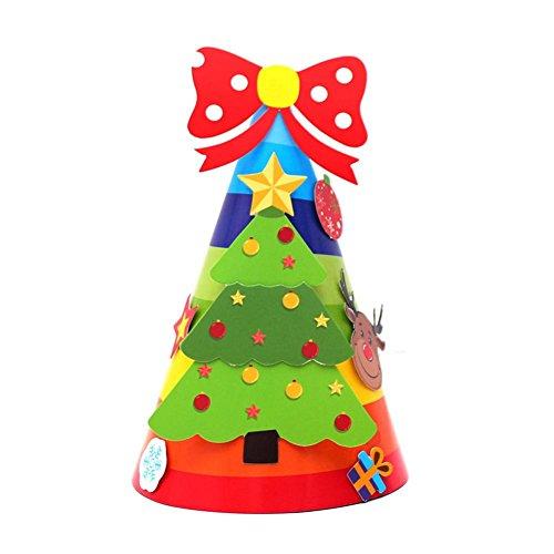 Weihnachten Geschenke Papier Mütze, wuayi Urlaub Sterne drucken Xmas Cap für Santa Claus - Baby-jungen Elmo Für Kleider