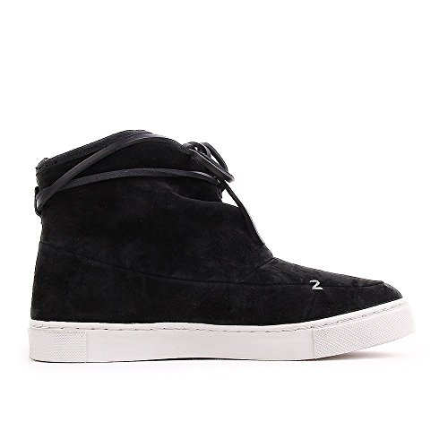 HUB Queen Nubuck Gefüttert Black Light Grey Noir