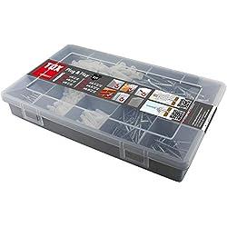 TOX coffret assortiment Plug & Play, 320 pièces, cheville universelle avec vis, 01190101