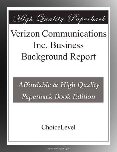 verizon-communications-inc-business-background-report