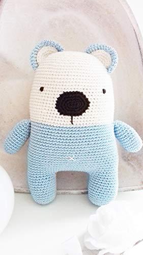 Mario, handgearbeiteter Bär. Bär häkeln für Kinder und Erwachsene. Geschenkidee. Puppe. handgemachte gepolsterte Puppe. Kaninchen