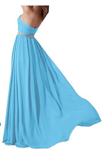 Elegante e alla moda a forma di cuore Chiffon sera Toscana sposa damigella Party Ball Bete vestimento per vestiti Blau