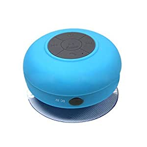 Foxnovo® Mini wasserdichte freihändige Bluetooth Lautsprecher mit MIC-Saugheber für iPhone / iPad / Handys (Blau)