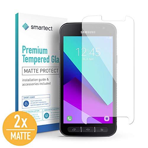 smartect Mattes Panzerglas für Samsung Galaxy Xcover 4 [2X MATT] - Bildschirmschutz mit 9H Härte - Blasenfreie Schutzfolie - Anti Fingerprint Panzerglasfolie