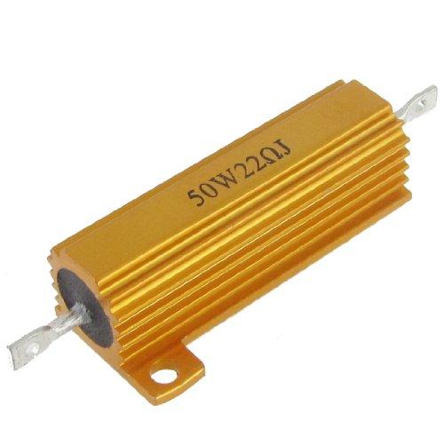 Sourcingmap a12040600ux026350W 22Ohm 5% Aluminium Fall Wirewound Gold Tone Widerstand
