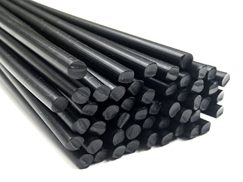 Preisvergleich Produktbild Kunststoffschweißdraht ABS 3mm Rund Schwarz 25 Stäbe
