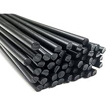 Alambre de soldadura de plástico PE-HD Negro 3mm Redondo HDPE 25 barra