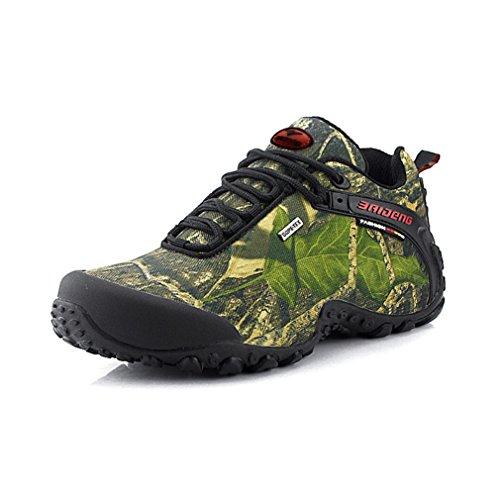 Homme Chaussures d'escalade en Mesh Mode Couleur Camouflage Confort Léger Confortable Chaussures de Sport en Plein Air Respirant Antidérapant Randonnée