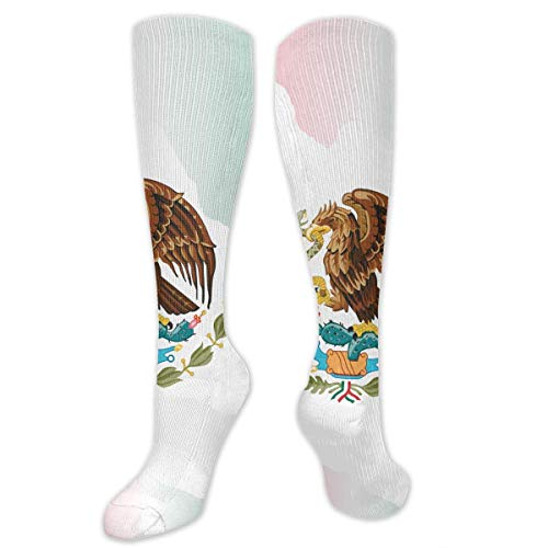 Nifdhkw Big Tall Casual Sports Socks for Men Mexico Flag Map Unisex Non Slip Boot Socks Long Stocking Women Training - Unisex-knie-boot