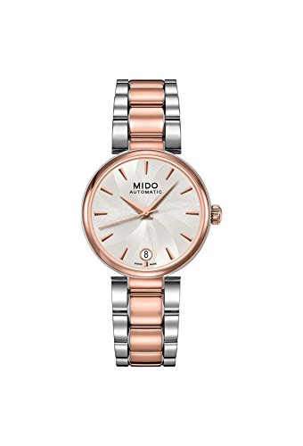 Mido Women's Automatic Watch with Black Dial Analogue Display Stainless Steel Plated M0222072203110