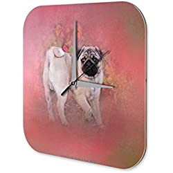 Reloj Pared Práctica Veterinaria Pug carlino