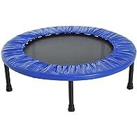 HOMCOM Cama Elástica Trampolín con diámetro 81/96/114cm y Muelles Resistentes hasta 100kg Color Azul Oscuro (S-Φ81 x 22,5cm)