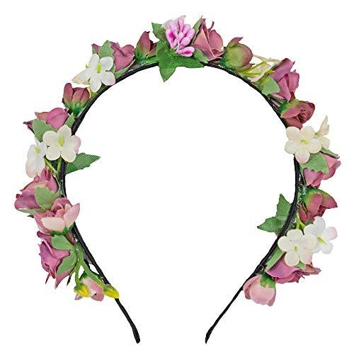 Trachtenland Blumen Haarreif Sabia - Altrosa