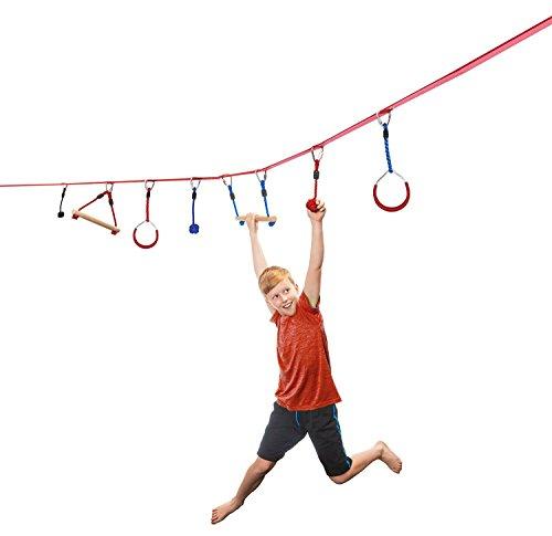 Kletter-Hangelparcour 11m lang 5cm breit (Ninja Ausrüstung Für Kinder)