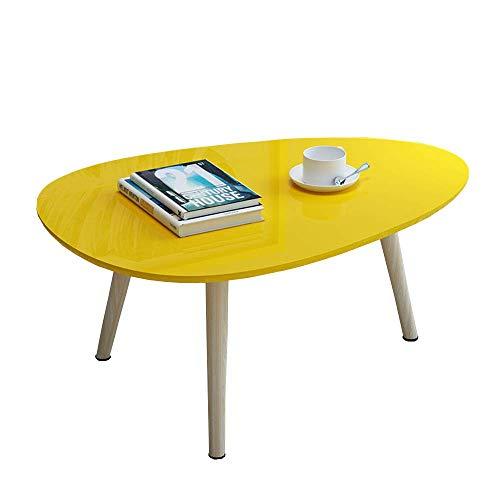 YueQiSong Kleiner Couchtisch Der Kleinen Kleinen Tabelle des Couchtischs Der Sofa-Seitentischecke Moderner Minimalistischer Massivholztisch, Gelb