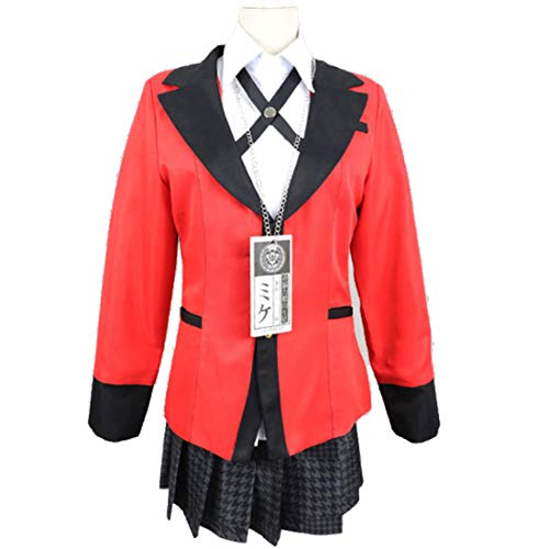 YKJ Anime Cosplay Kostüm High School Uniform Halloween Party Cosplay Kostüm für Frauen Mädchen Set,Suit-M (Uniform Kostüm Party)
