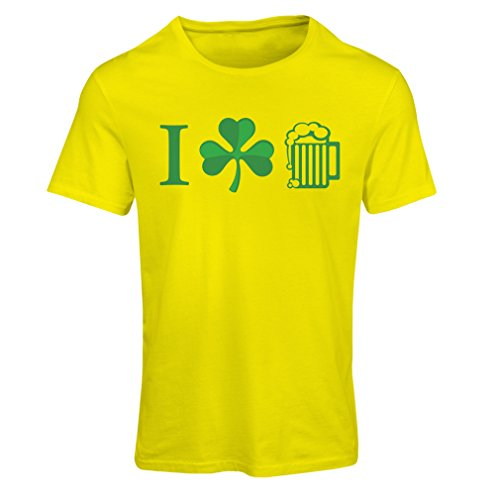 Frauen T-Shirt The Symbols of St. Patrick's Day - Irish Icons (Small Gelb (Kostüme Country Girl Dance)